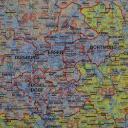 Németország postai irányítószámos térkép, műanyaghengerben, 1:700 000 Freytag térkép PLKD P