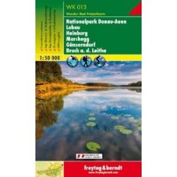 WK 013 Nationalpark Donau-Auen-Lobau-Hainburg-Marchegg-Gänserndorf -Bruck a. d. Leitha turista térkép Freytag 1:50 000