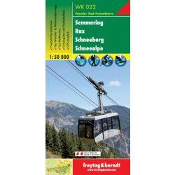 WK 022 Semmering, Rax, Schneeberg, Schneealpe turistatérkép 1:50 000