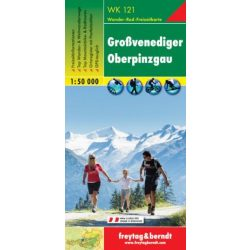 WK 121 Großvenediger, Oberpinzgau turistatérkép 1:50 000
