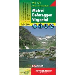 WK 123 Matrei, Defereggen, Virgental turistatérkép 1:50 000 Gróßglockner térkép