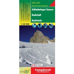 WK 201 Schladminger Tauern, Radstadt, Dachstein turistatérkép 1:50 000