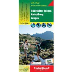 WK 202 Radstädter Tauern, Katschberg, Lungau turistatérkép 1:50 000