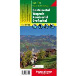 WK 191 Gasteiner Tal, Wagrain, Raurisertal, Großarltal turistatérkép 1:50 000