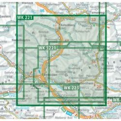 WK 221 Liesertal turista térkép, Liesertal Maltatal, Millstätter See, Spittal a.d. Drau, Nockalmstraße 1:50 000 - 2020