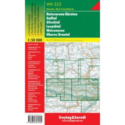 WK 223 Naturarena Kärnten, Gailtal, Gitschtal, Lesachtal, Weissensee, Oberes Drautal Hermagor turistatérkép 1:50 000