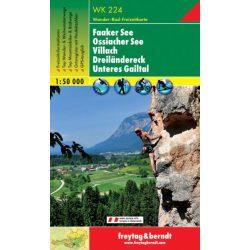 WK 224 Faaker See, Ossiacher See, Villach, Dreiländereck, Unteres Gailtal turistatérkép 1:50 000