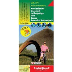 WK 271 Neusiedler See, Eisenstadt, Leithagebirge, Rust, Sopron mit Segelkarte turistatérkép 1:50 000