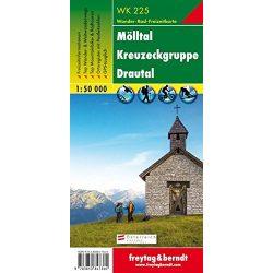 WK 225 Mölltal, Kreuzeckgruppe, Drautal turistatérkép 1:50 000