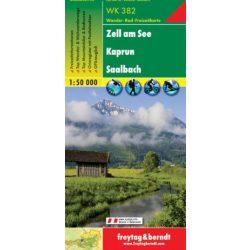 WK 382 Zell am See, Kaprun, Saalbach turistatérkép 1:50 000
