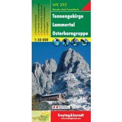 WK 392 Tennengebirge, Lammertal, Osterhorngruppe turistatérkép 1:50 000