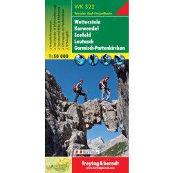 WK 322 Wetterstein, Karwendel, Seefeld, Leutasch, Garmisch-Partenkirchen turistatérkép 1:50 000