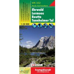 WK 352 Ehrwald, Lermoos, Reutte, Tannheimer Tal turistatérkép 1:50 000