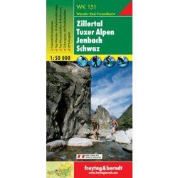 WK 151 Zillertal, Tuxer Alpen, Jenbach, Schwaz turistatérkép 1:50 000