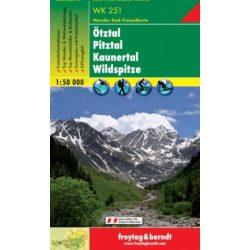 WK 251 Ötztal, Pitztal, Kaunertal, Wildspitze turistatérkép 1:50 000