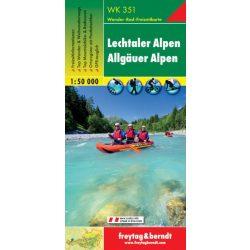 WK 351 Lechtaler Alpen, Allgäuer Alpen turistatérkép 1:50 000