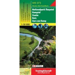 WK 073 Nationalpark Thayatal, Kamptal, Znaim, Retz, Gars a. Kamp turistatérkép 1:50 000
