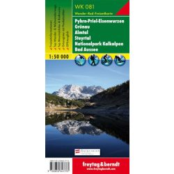 WK 081 Grünau-Almtal-Steyrtal-Nationalpark Kalkalpen turista térkép Freytag 1:50 000