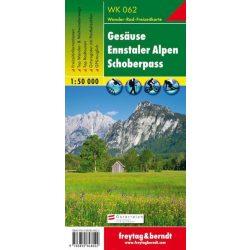 WK 062 Gesäuse, Ennstaler Alpen, Schoberpass turistatérkép 1:50 000