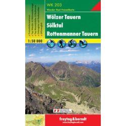 WK 203 Wölzer Tauern, Sölktal, Rottenmanner Tauern turistatérkép 1:50 000