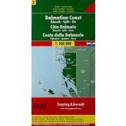Dalmát-tengerpart 2 Šibenik - Split - Vis, 1:100 000  Freytag térkép AK 0704