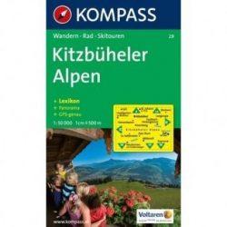 29. Kitzbüheler Alpen turista térkép Kompass 1:50.000