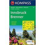 036. Innsbruck turista térkép Kompass 1:35 000