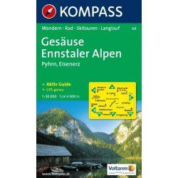 69. Gesäuse, Ennstaler Alpen turista térkép Kompass