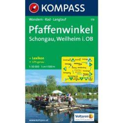 179. Pfaffenwinkel, Schongau, Weilheim in Oberbayern turista térkép Kompass