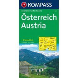 309. Österreich, 1:600 000 térkép autós
