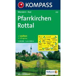 200. Pfarrkirchen, Rottal turista térkép Kompass