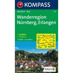 170. Wanderregion Nürnberg, Erlangen turista térkép Kompass