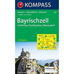 008. Bayrischzell, Schliersee, Fischbachau, Oberaudorf, 1:25 000 turista térkép Kompass