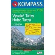 2130. Magas-Tátra térkép Hohe Tatra/Vysoké Tatry, 1:25 000, D/SK turista térkép Kompass