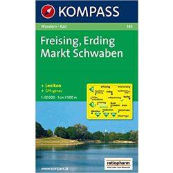 183. Freising, Erding, Markt Schwaben turista térkép Kompass