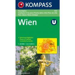 432. Wien Touristplan, 1:20 000, Box várostérkép