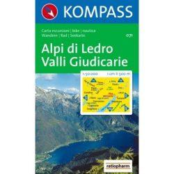 071. Alpi di Ledro turista térkép Kompass 1:50 000