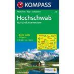 212. Hoschschwab turista térkép Kompass 1:150 000 Hochkar térkép