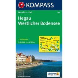 783. Hegau, Westlicher Bodensee turista térkép Kompass