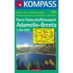 070. Ademello-Brenta turista térkép Kompass 1:40 000