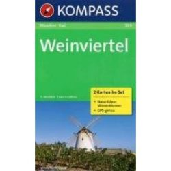 204. Weinviertel térkép, 2teiliges Set mit Naturführer turista térkép Kompass
