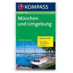 184. München und Umgebung, 2teiliges Set mit Naturführer turista térkép Kompass