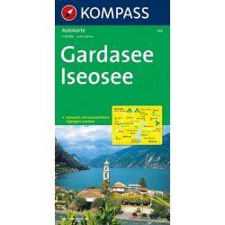 335. Gardasee, Garda tó térkép Kompass 1:125 000
