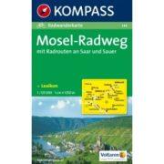 144. Mosel-Radweg turista térkép Kompass 1:125 000