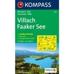 062. Villach Faaker See turista térkép Kompass 1:25 000