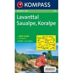 219. Lavanttal, Saualpe, Koralpe turista térkép Kompass
