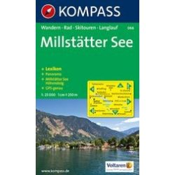 066. Millstatter See turista térkép Kompass 1:25 000