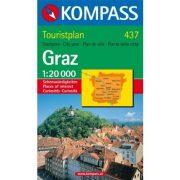 437. Graz Touristplan, 1:20 000, 30er Box várostérkép