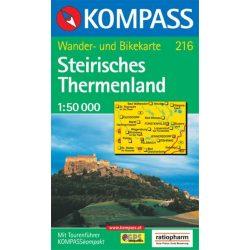 216. Steirisches Thermenland turista térkép Kompass 1:50 000
