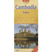 Angkor térkép, Kambodzsa térkép Nelles 1:1 500 000   Cambodia térkép